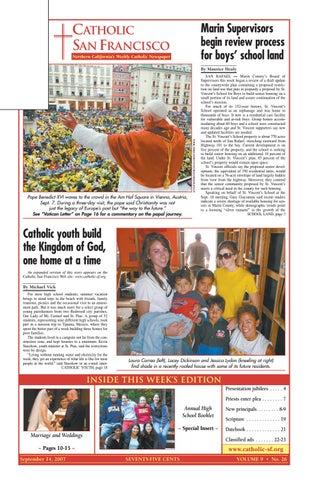 September 14 2007 By Catholic San Francisco Issuu