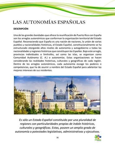 Page 36 of Las Autonomías Españolas