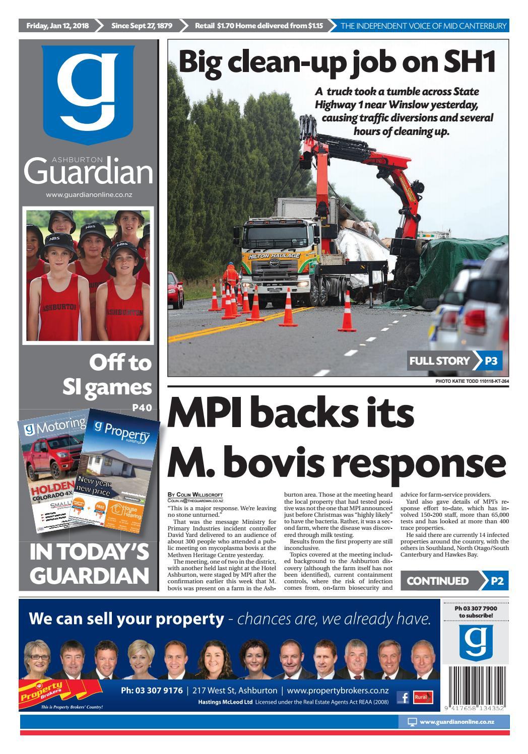 Ag 12 january, 2018 by Ashburton Guardian - issuu