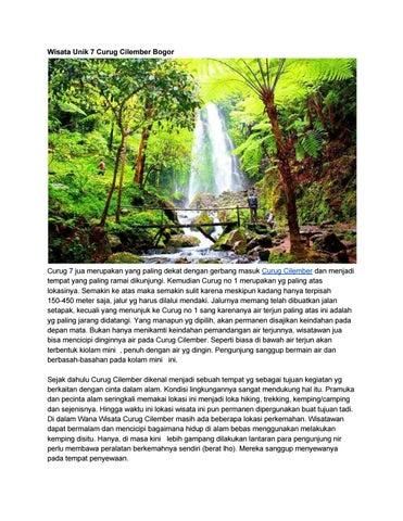 Wisata Unik 7 Curug Cilember Bogor By Abdul Fattah Issuu