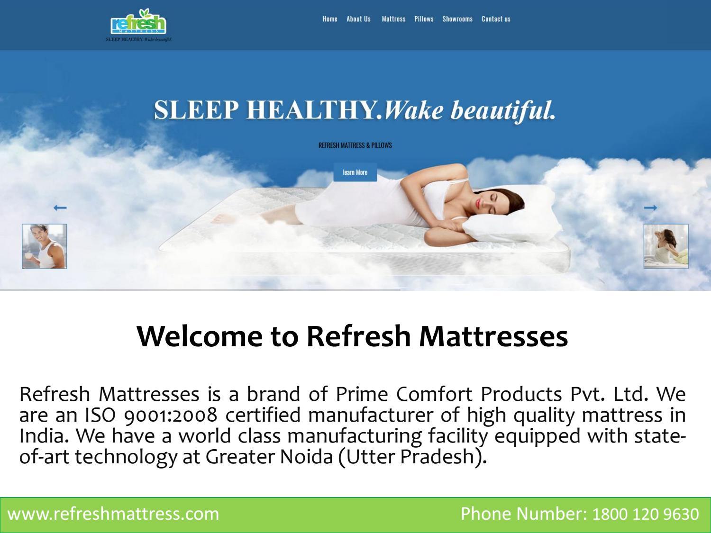 79f8ddcd7 Best Healthy Mattress in India by Refresh Mattress - issuu