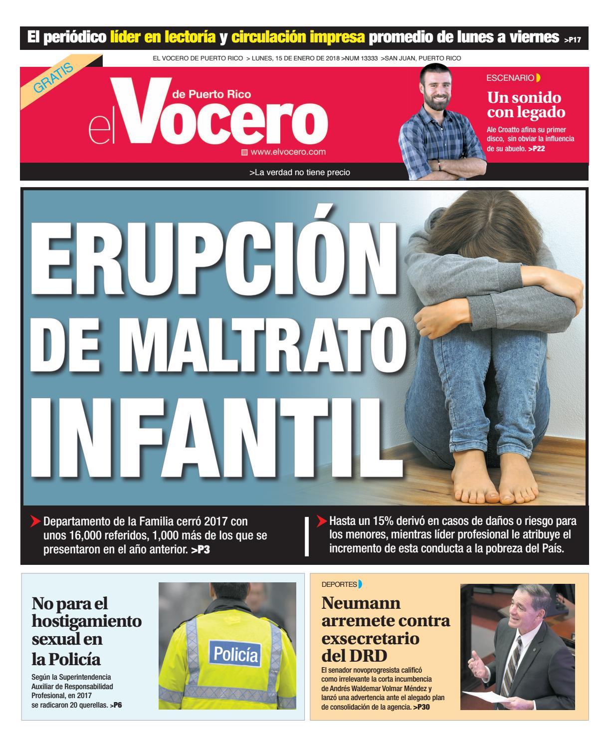 Edición del 15 de enero de 2018 by El Vocero de Puerto Rico - issuu