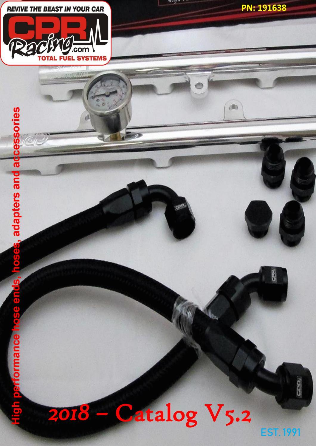 AN-6 AN6 6AN ID 13.5mm Billet Fuel Hose Separator Fittings Adapter Green
