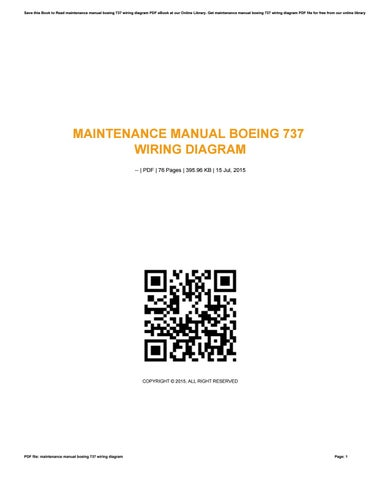 Help boeing wiring diagram manual by kumail8452 issuu maintenance manual boeing 737 wiring diagram cheapraybanclubmaster Images