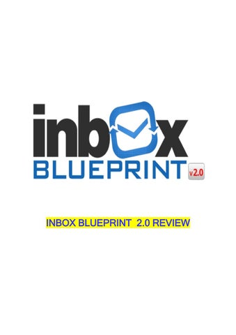 Best inbox blueprint 2018 clickbank how to develop an e mail inbox blueprint 20 review malvernweather Gallery
