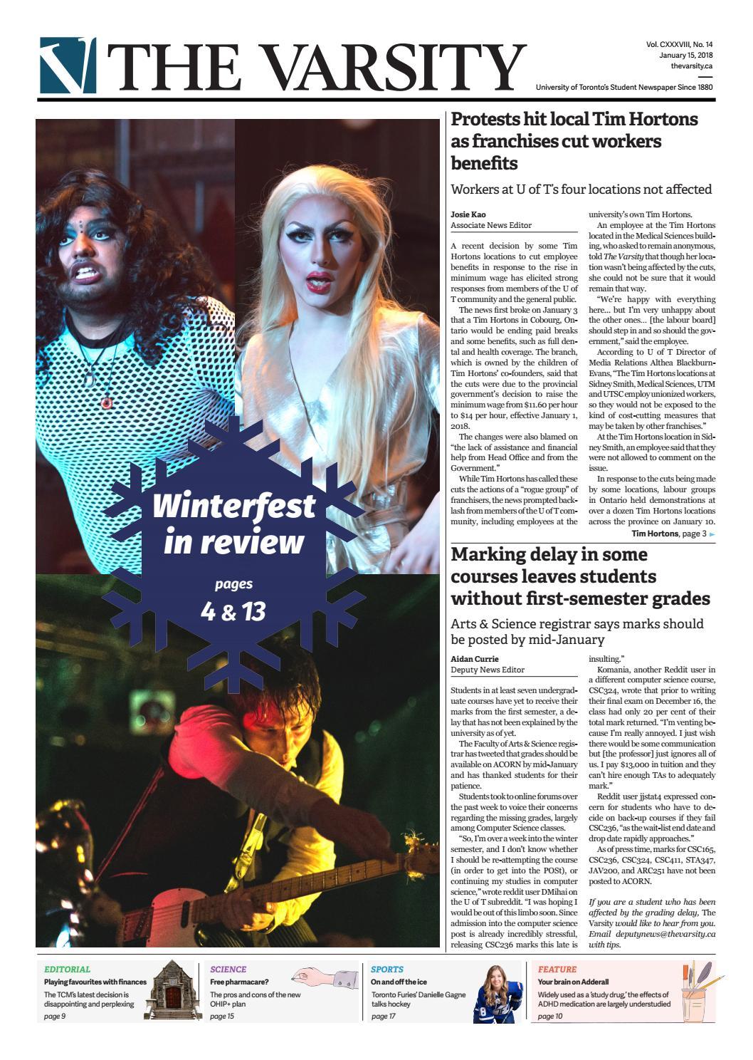 January 15, 2018 by The Varsity - issuu