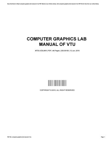 computer graphics lab manual of vtu by farfurmail8 issuu rh issuu com computer graphics lab manual for cse Computer Screen