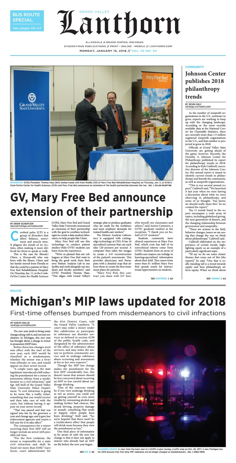Issue 34, January 15th, 2018 - Grand Valley Lanthorn by