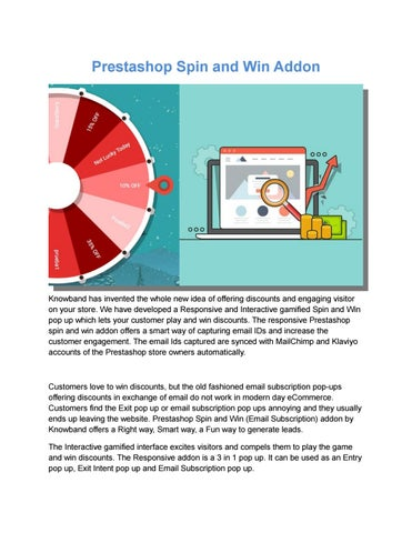 Prestashop spin and win interactive popup addon by Knowband