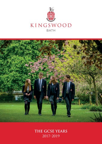 GCSE Brochure 2017 By Kingswood School Issuu