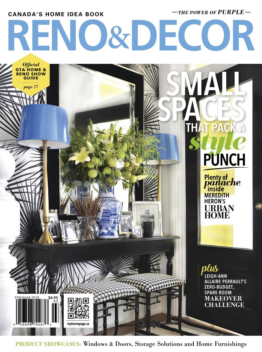 Reno Amp Decor Magazine Feb Mar 2018 By Homes Publishing