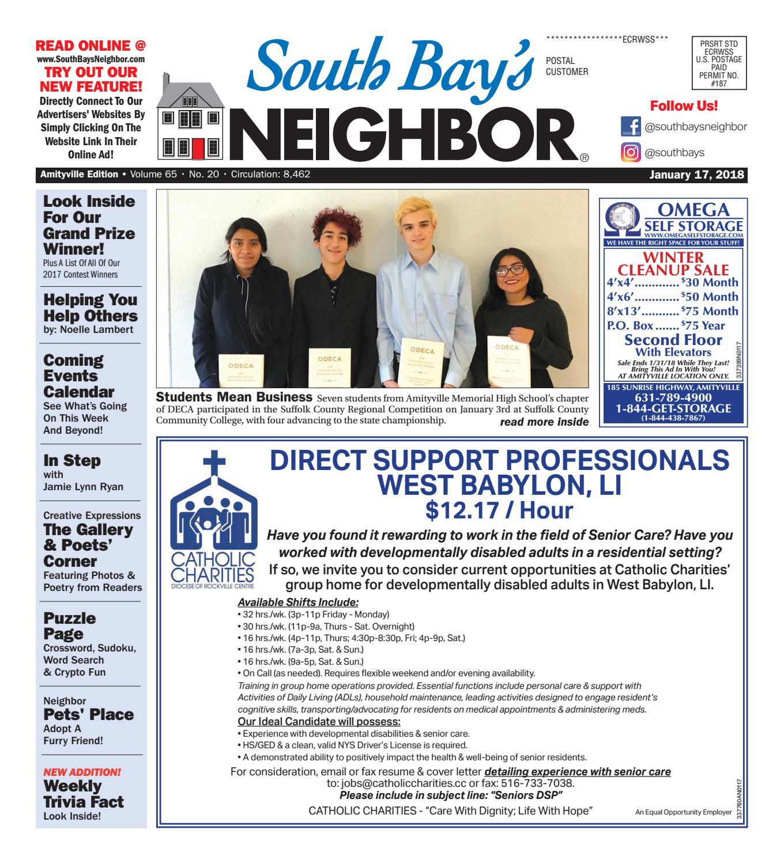january 17th 2018 amityville by south bay s neighbor newspapers issuu rh issuu com