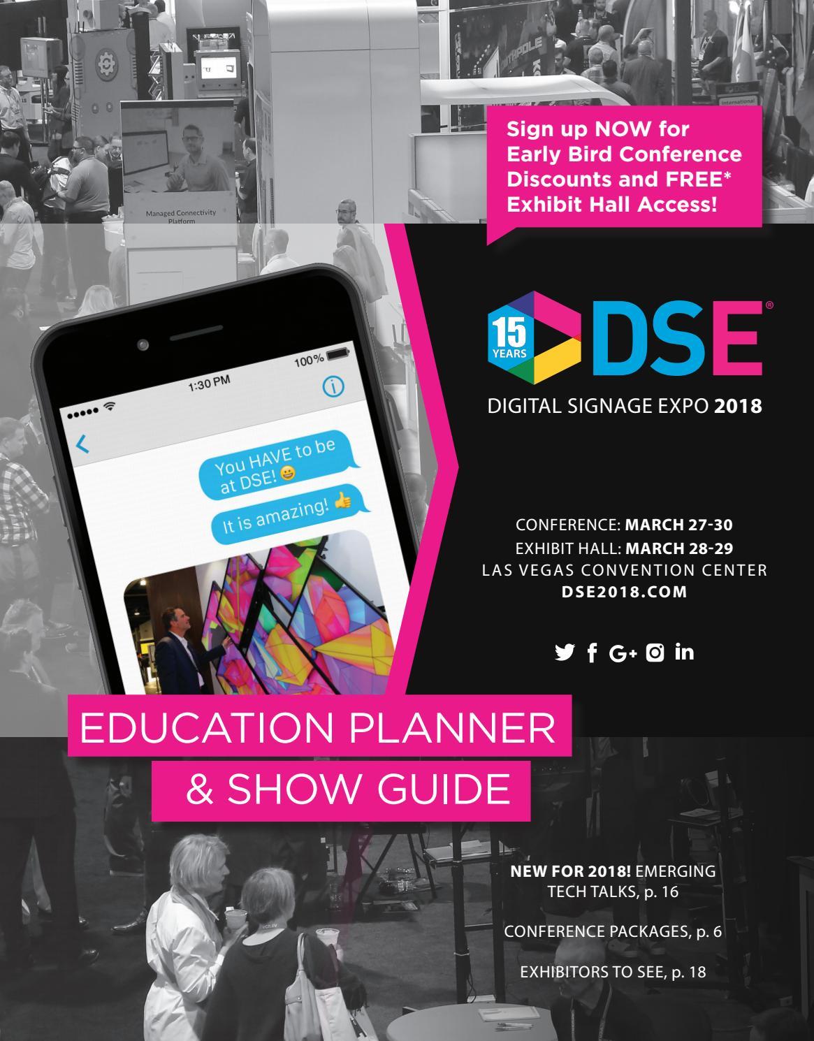 Digital Signage Expo 2018 Education Planner Show Guide By Nexcom Mars Exponation Llc Issuu