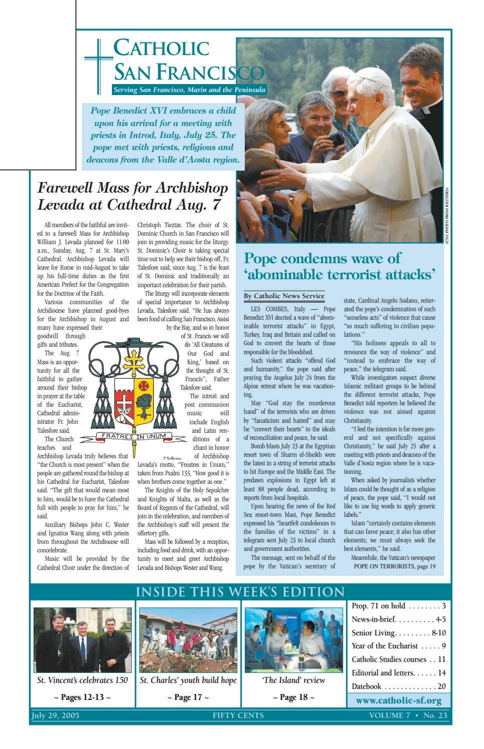 July 29, 2005 by Catholic San Francisco - issuu