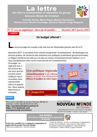 c50f100128e REGION OCCITANIE Bilan à 2 ans de mandat des élus communistes et du ...