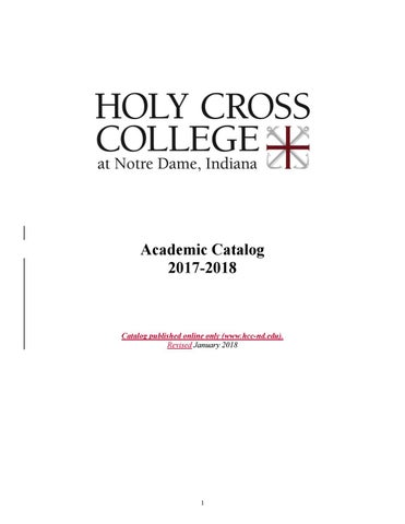 2017-2018 Academic Catalog by Holy Cross College - issuu
