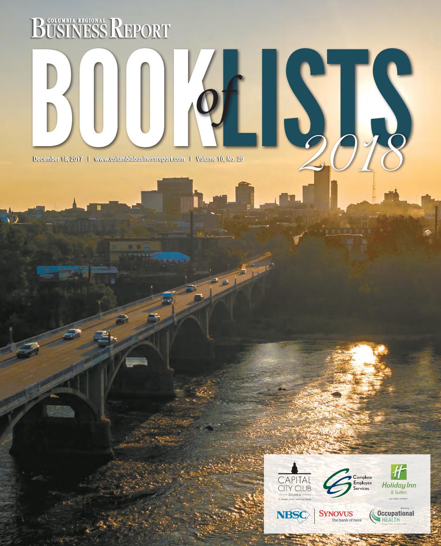 2018 Columbia Book of Lists by SC BIZ News - issuu