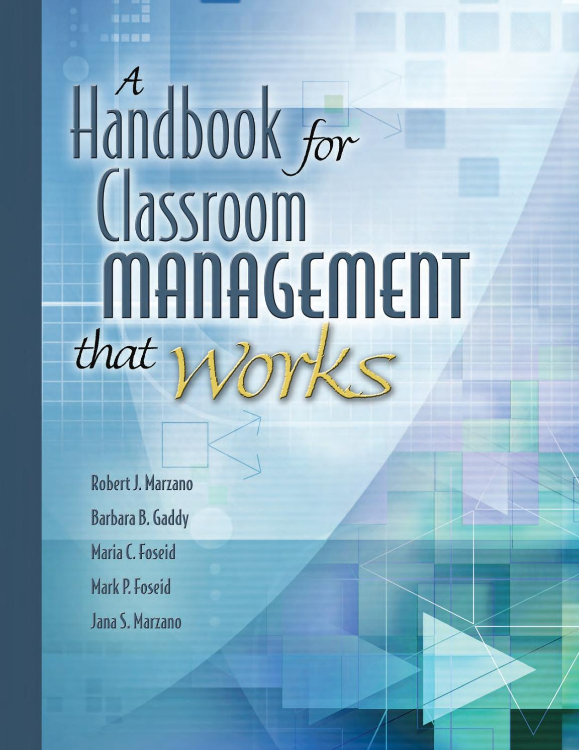 A habdbook for the classroom managment tht works by o.msameh - issuu