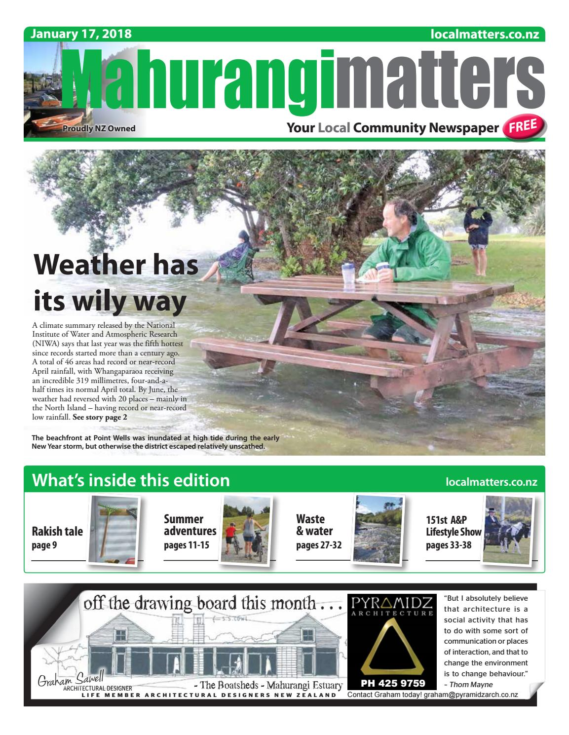4a4f2b4180540 Mahurangi Mattters 17 Jan 2018 by Localmatters - issuu