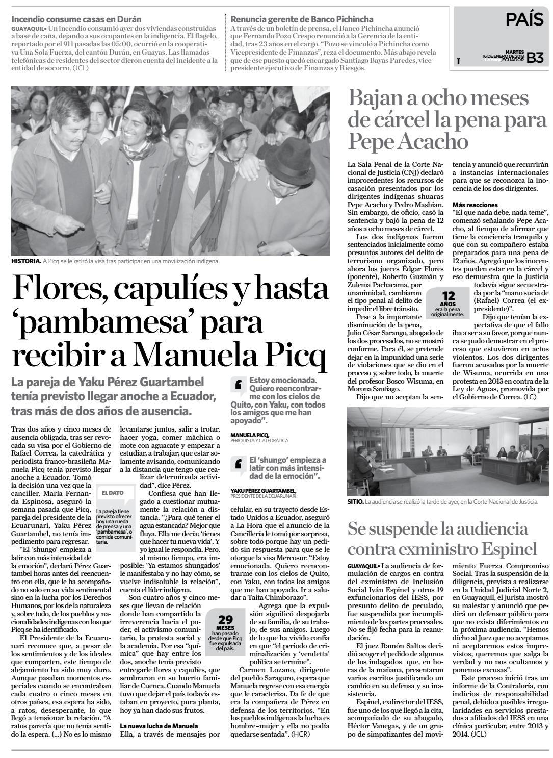 Cotopaxi 16 de enero de 2018 by Diario La Hora Ecuador - issuu