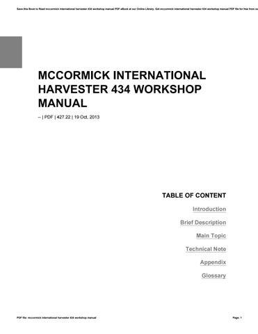 mccormick international harvester 434 workshop manual by c5348 issuu rh issuu com Antique McCormick Deering Tractors Antique McCormick Deering Tractors