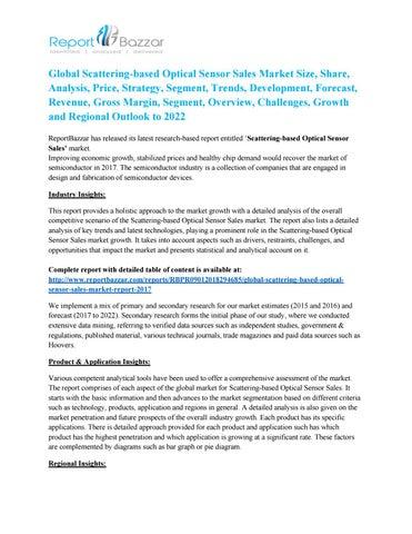Global Scattering-based Optical Sensor Sales Market Analysis and