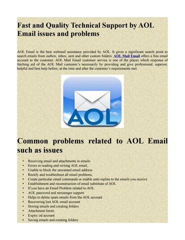 Mail related problems