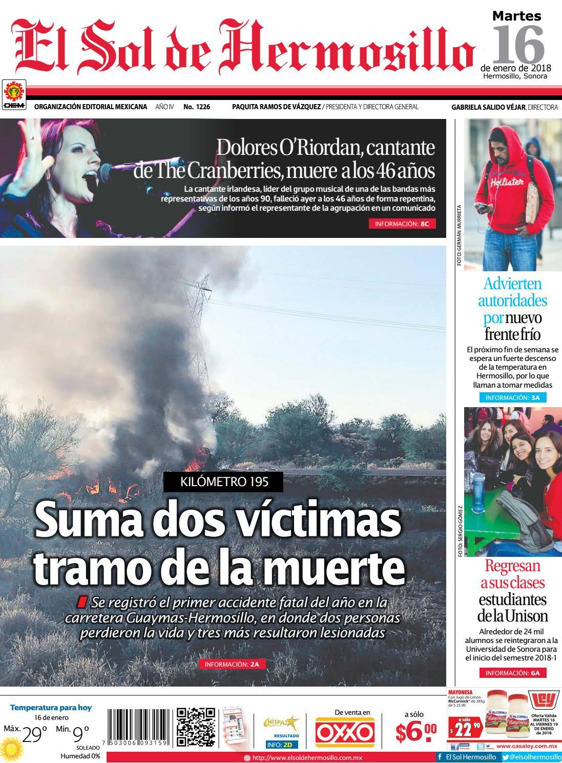 Edicion impresa 16 enero 2018 by El Sol de Hermosillo - issuu