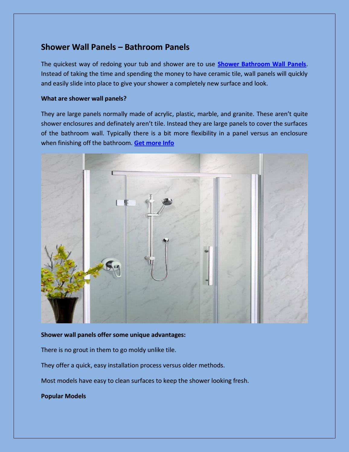 Shower wall panels – bathroom panels by All Weather Insulated Panels ...