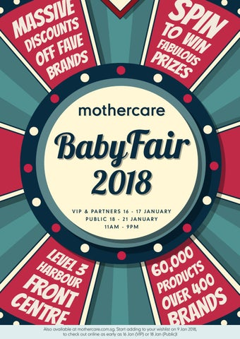 baby fair 2018 brochure by mothercare sg issuu