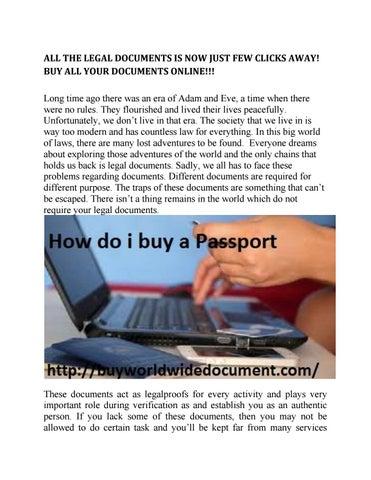 Buy High Quality Fake Euro Bills By Buyworldwide Document Issuu - Fake legal documents