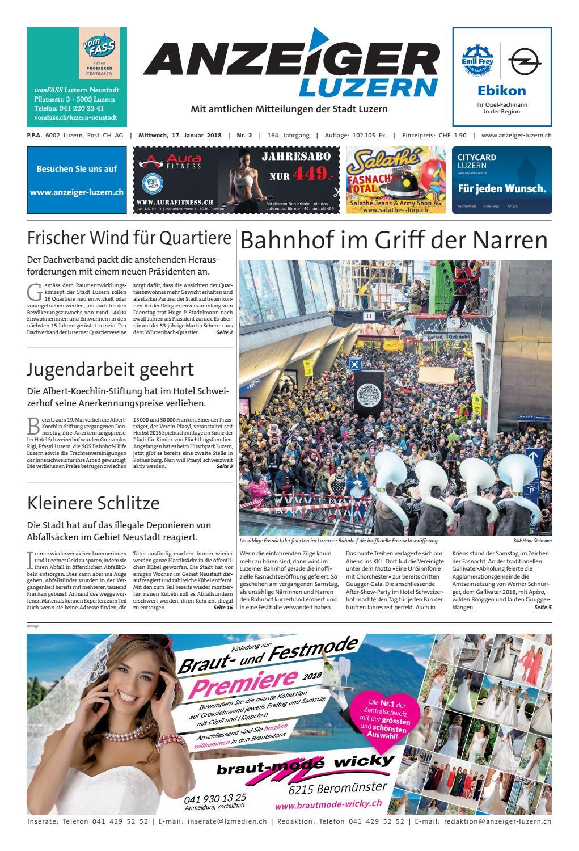 Anzeiger Luzern 02 17 01 2018 By Anzeiger Luzern Issuu