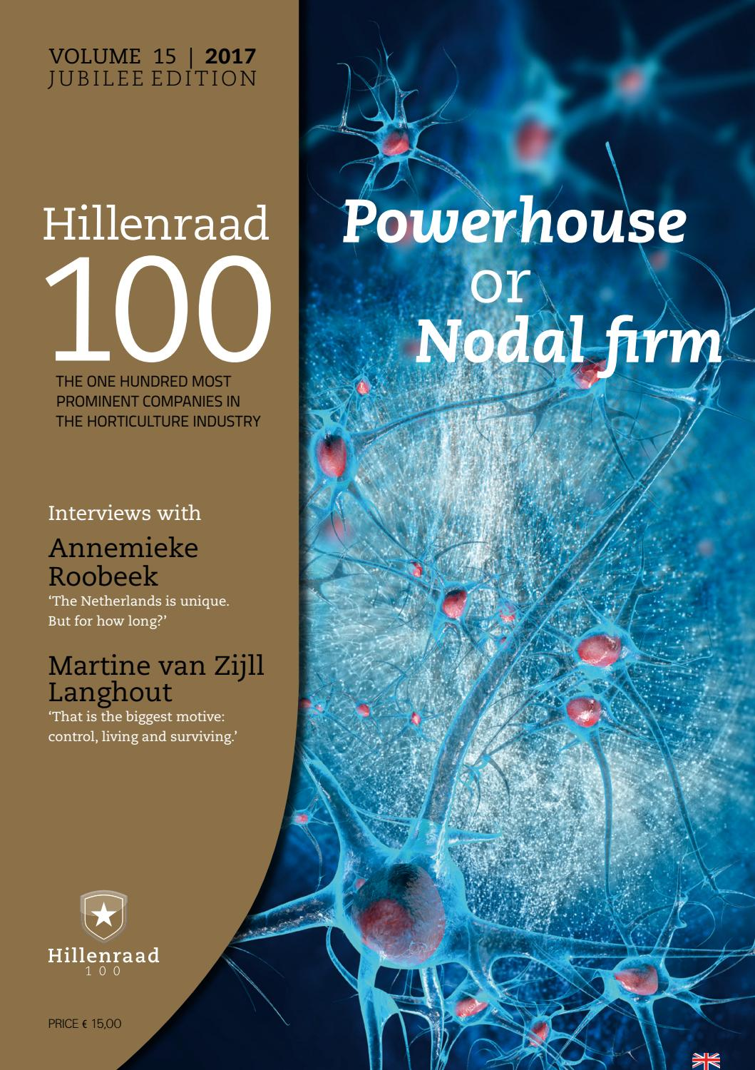 Hillenraad100 edition 2017 English by Aldenborg - issuu
