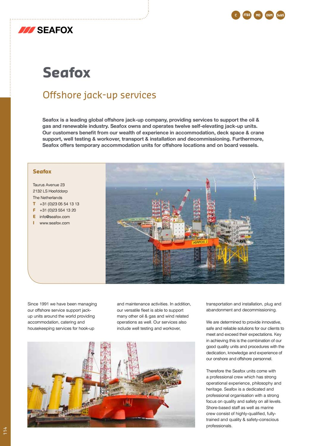 Offshore hook up activities