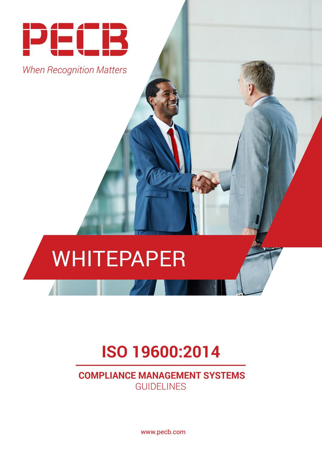 ISO 196002014 Compliance Management Systems Guidelines