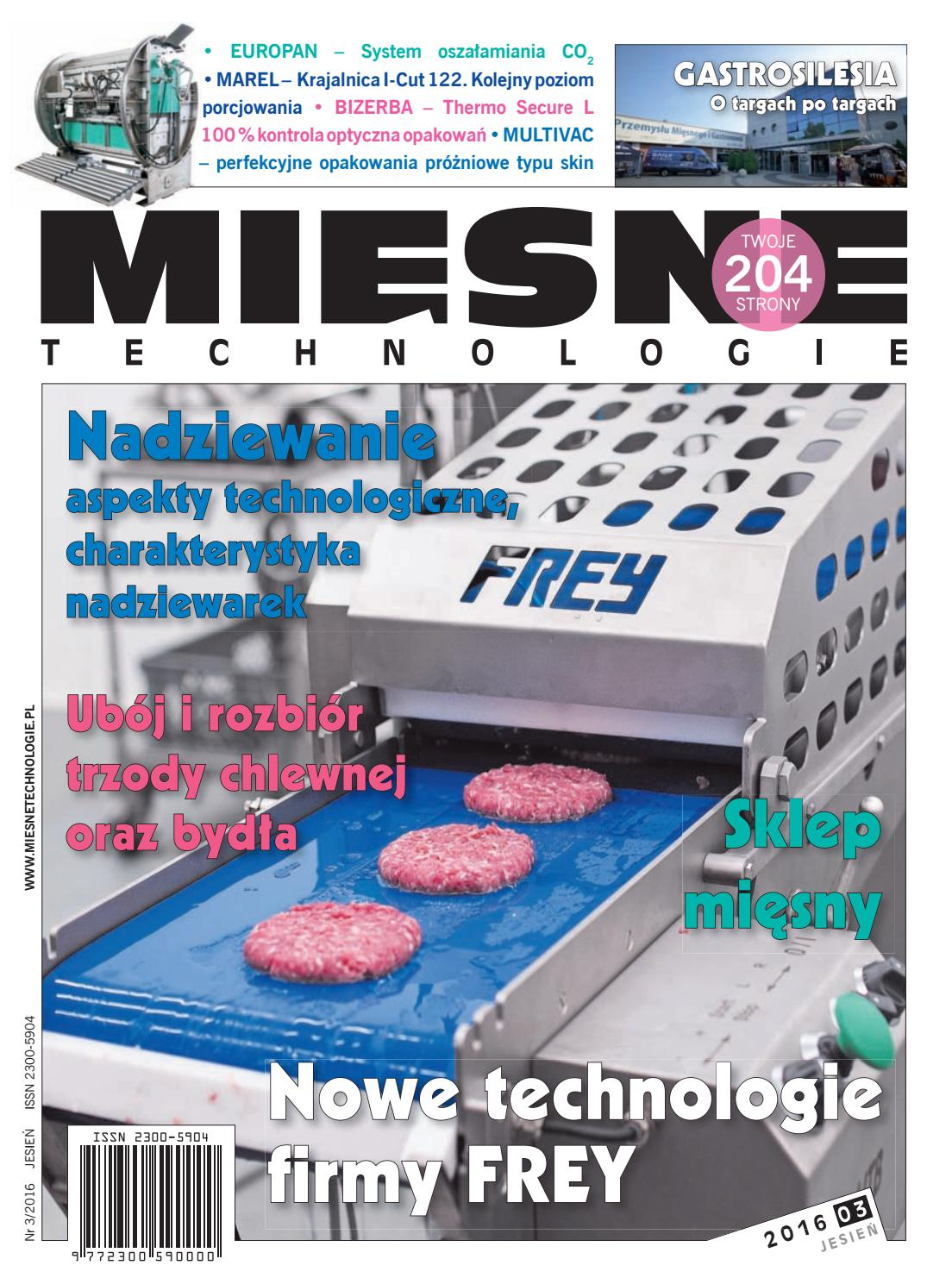 cd230efdaf8b7 Mięsne technologie JESIEŃ 2016 (III) by Womat - media czasopisma dla  specjalistów - issuu