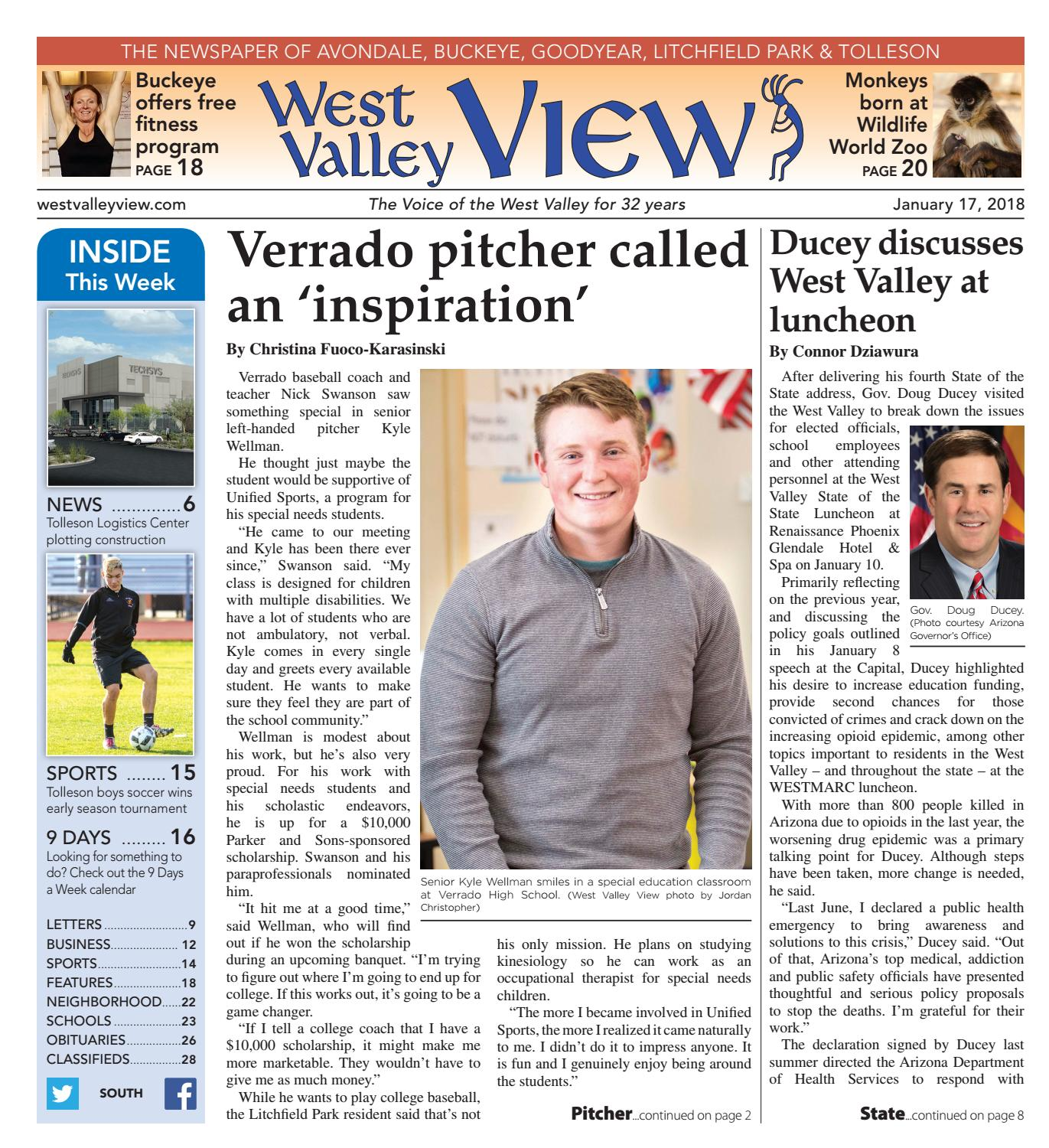 West Valley View South January 17 2018 By Times Media Group Issuu