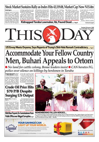 c44e82da34a0d Tuesday 16th January 2018 by THISDAY Newspapers Ltd - issuu