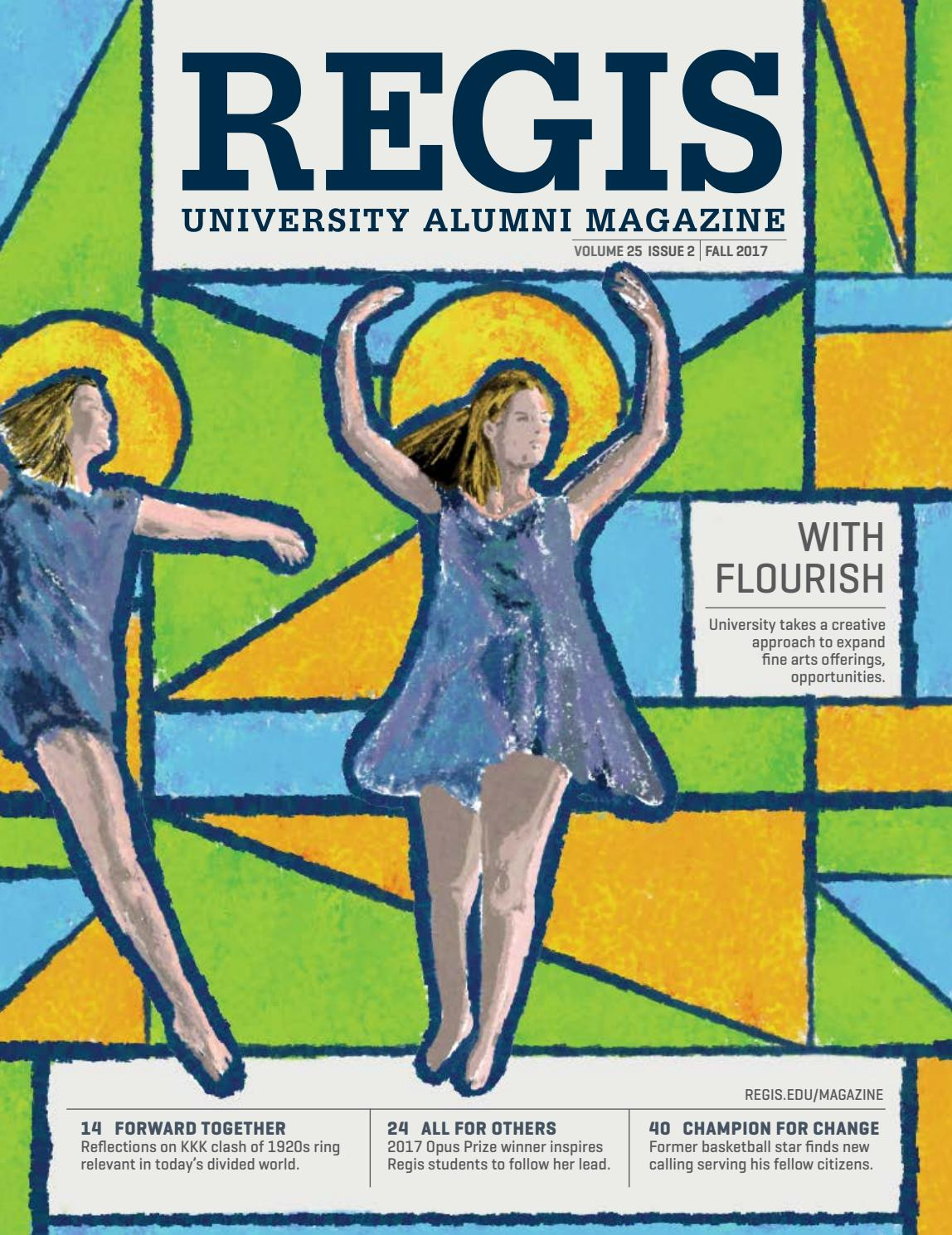 Regis alumni magazine fall 2017 by Marcom - issuu