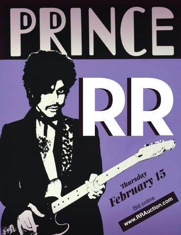 pretty nice 04988 8d09b RR Auction  February 2018 Prince Auction