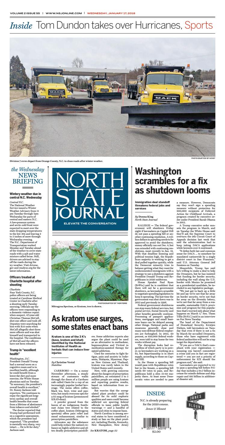 North State Journal — Vol  2 , Issue 55 by North State