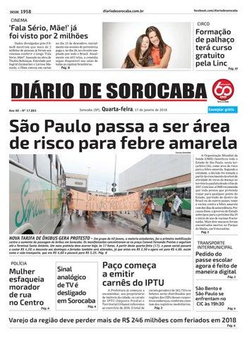 Quarta, 17 de janeiro by DIÁRIO DE SOROCABA - issuu 056f76f425