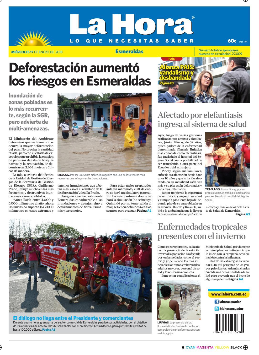 d6720fa10 Esmeraldas 17 de enero de 2018 by Diario La Hora Ecuador - issuu