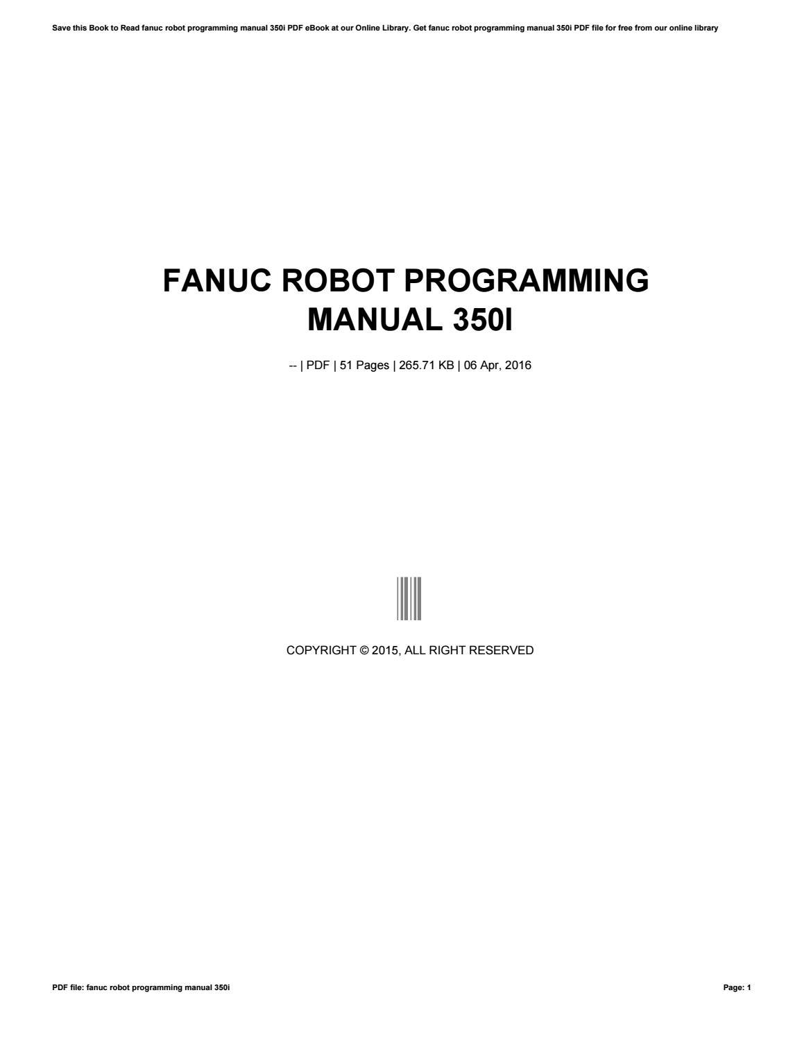 Fanuc Robot Programming manual