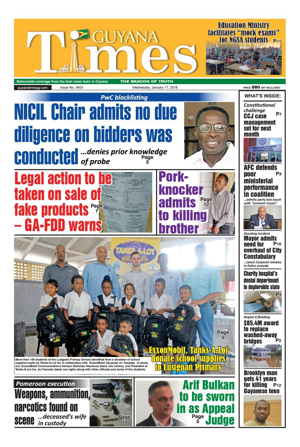 Guyana times 17 january 2018