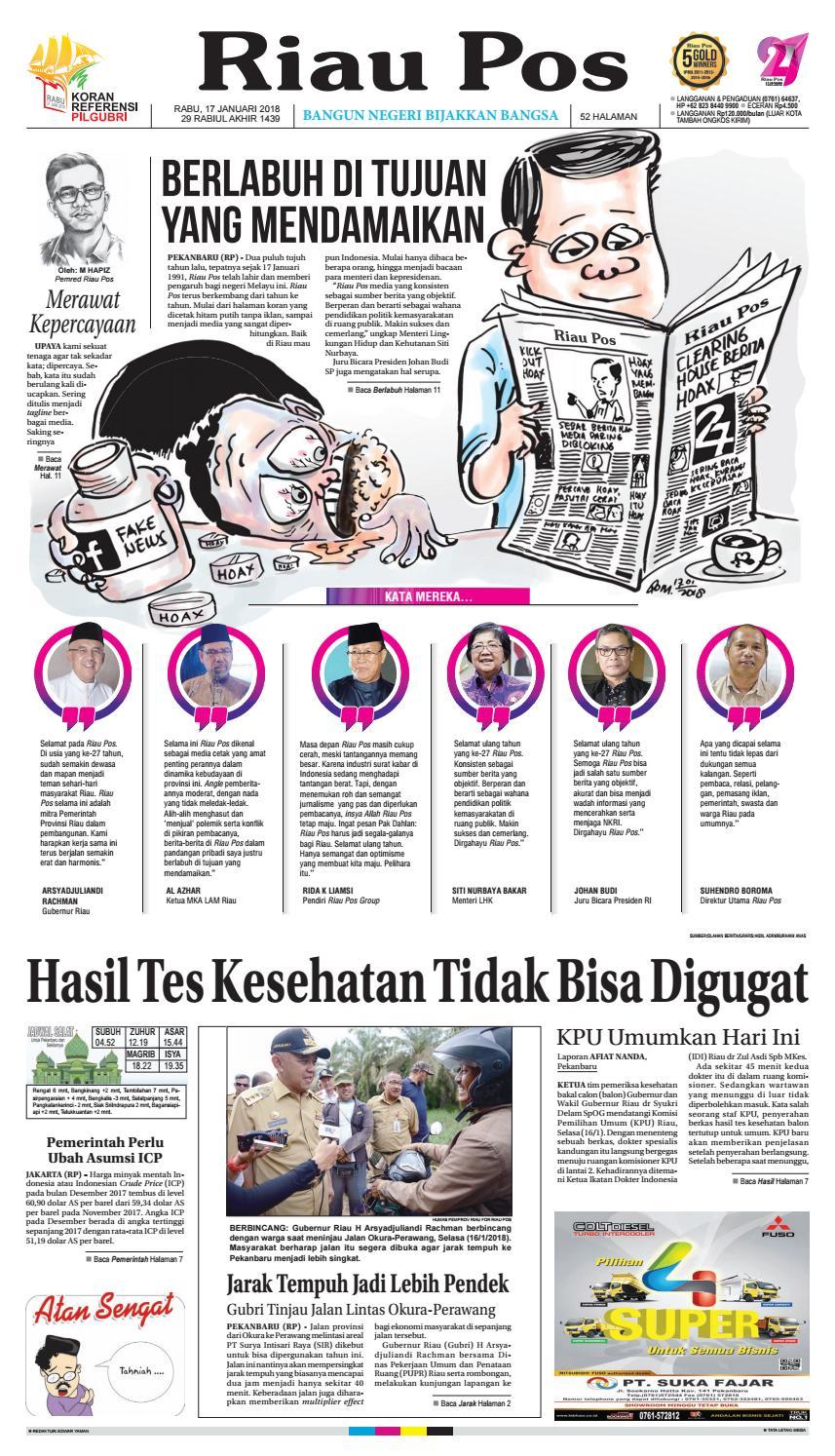 2018 01 17 By Riau Pos Issuu