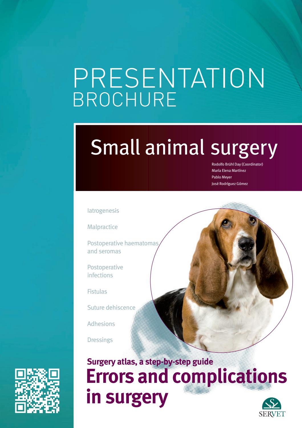 Errors and complications in surgery  Small Animal Surgery