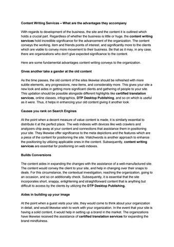 Content writing service pdf