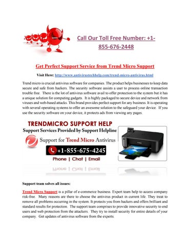 Get perfect support service from trend micro support by Anika Parker