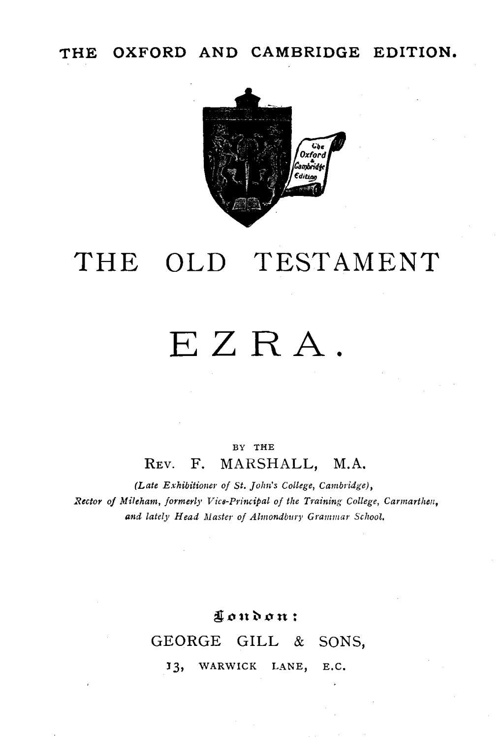 Frank Marshall [1848-1906], The Old Testament: Ezra  by Rob Bradshaw